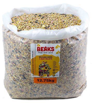 Birdseed with Suet pellet mix garden bird feeding 12.75kg x 10 different types