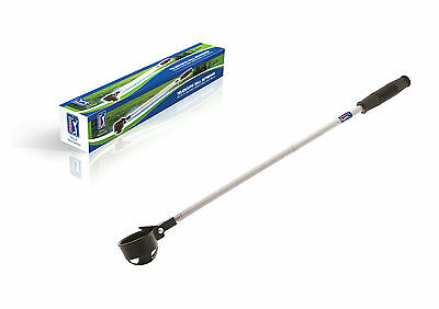 PGA TOUR Telescopic Ball Retriever 2 metres - Golf Ball Scoop Pick Up Tool Steel