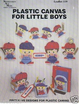 FOR LITTLE BOYS ~  plastic canvas leafet   ~  OOP