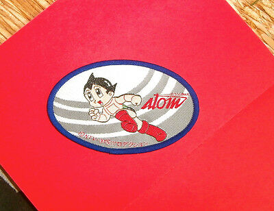 Astroboy Patch Vintage Tezuka Atom Anime Embroidered Blue Oval 3 &1/2 Inches