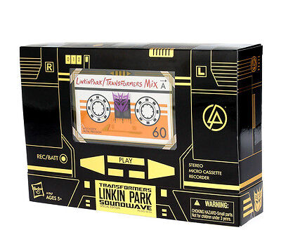 Transformers Linkin Park X'mas Gift Exclusive Limited Edition Gold Soundwave