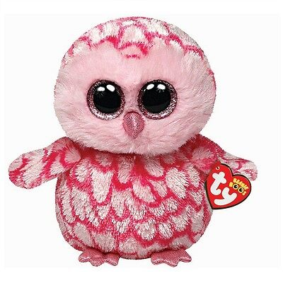 Ty Beanie Babies 36094 Boos Pinky the Pink Owl Boo
