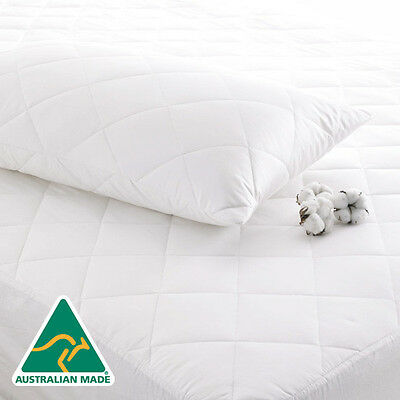 Single/KS/Double/Queen/King Fitted Quilted Cotton Cover Mattress Protector