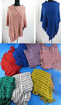 lot 12 wholesale winter poncho soft warm Pullover Coat Outer knit jumper sweater
