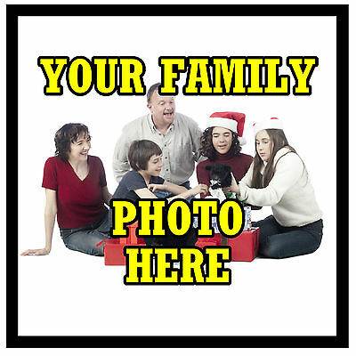 Personalised Set Of 4 Coasters - Your Own Family Photo - New - Gift / Present