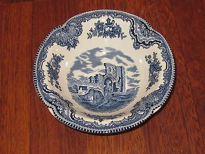 Johnson Brothers OLD BRITISH CASTLES Blue Rimmed Cereal Bowl Made In England