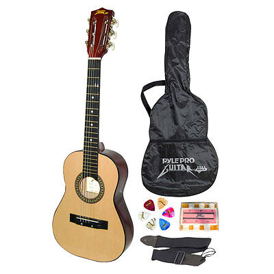 "NEW Pyle PGAKT30 30""  Beginner Acoustic Guitar w/ Carrying Case & Accessories"