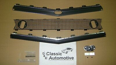 Camaro 67 Standard Grill 71pc Kit w/ Moldings + SS396 Emblem + Hardware In Stock
