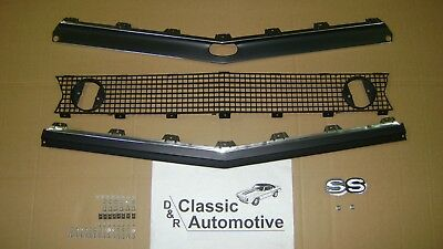 Camaro 67 Standard Grill 70pc Kit w/Moldings + SS Emblem + Hardware **In Stock**