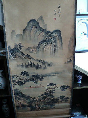Chinese scroll painting - mountains waters painting