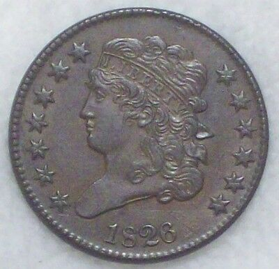 1826 HALF CENT Classic Head - AU Detailing RARE C-1 Authentic *PRICED TO SELL*