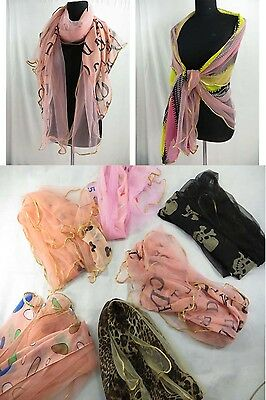 *US SELLER*wholesale lot of 12 long wide scarf shawls