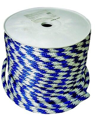 """Wellington Cordage 46406 Derby Blue and White Rope 5/8"""" x 200' Roll"""
