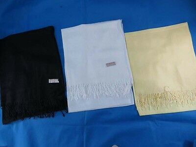 *US SELLER*lot of 5 Solid color pashmina Ladies Scarves Wholesale shawls wrap