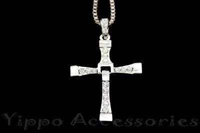 Fast and Furious Vin Diesel Dominic Toretto's Cross Pendant Necklace Christian