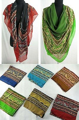 *US SELLER*lot of 5 wholesale bohemian large square scarves shawl wrap stole