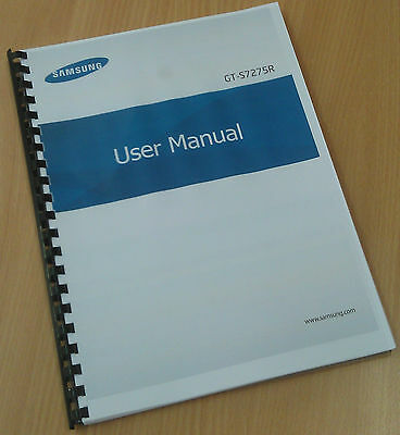 Printed Samsung Galaxy Ace 3 Phone Instruction Manual / User Guide GT-S7275R