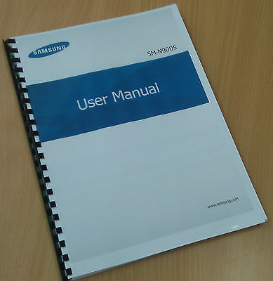 Printed Samsung Galaxy Note 3 Instruction Manual / User Guide SM-N9005