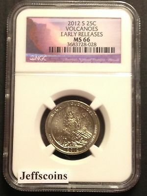 2012 S NGC MS66 CLAD Hawaii Volcanoes National PARK QUARTER ATB Mint State 66 MS