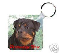 Rottweiler     Personalized  Breed  Key  Chain