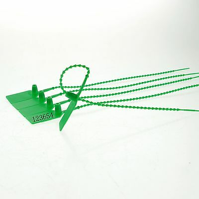 (20)Green 230mm Plastic Lead Ribbon/Seal Used for Tanker Seal/Container One Use
