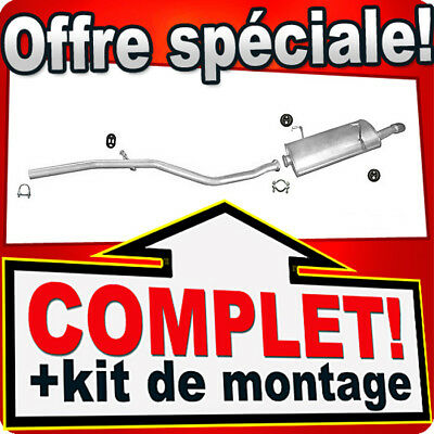 Echappement PEUGEOT 206 2.0 HDi CHROME PIPE HAYON 90CH 1999-2006 Silencieux 847