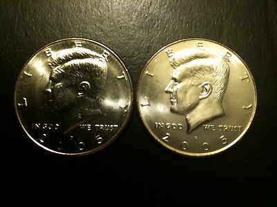 2005 P&D Kennedy Half Dollar Set GEM BU From MINT ROLL Clad 50 Cent PD