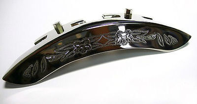 Engrave pattern Banjo Armrest-chrome color surface,1 piece