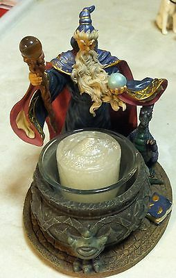 Wizard, dragon and votive candle in cauldron - Westland - 1999