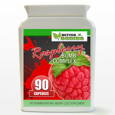 Raspberry Ketone BOMB Complex STRONG Weight Loss Detox Fat Burn Pills 90 Bottle