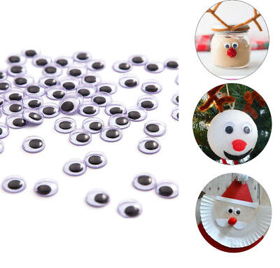 1000 Pieces Wiggle Eyes Flatback Googly Wobble Scrapbook Bulk Lot Crafts Repairs
