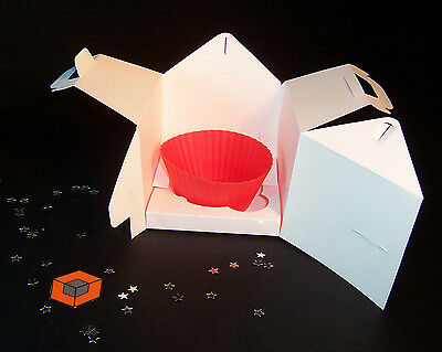 35 Individual Cupcake boxes ~~~ 80x80mm ~~~  inc inserts & postage only £5.99