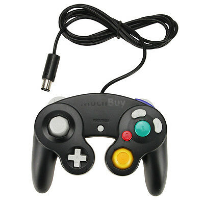 Black Shock Game Controller Pad for Nintendo Gamecube GC Wii New US Shipping