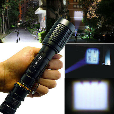 UltraFire 2200LM CREE XML-T6 LED Flashlight + Charger + 2x 18650Battery From USA