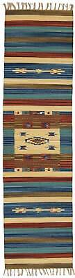 280x60 CM Autentic Khilim Jahnu Tapis Kelem Indians made lavable en machine #