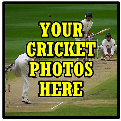 Personalised Coasters - Own Cricket Photo's  - Set Of 4 Coasters - New - Gift