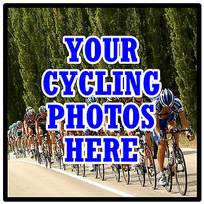 Personalised Coasters - Own Cycling Photo's  - Set Of 4 Coasters - Gift - New