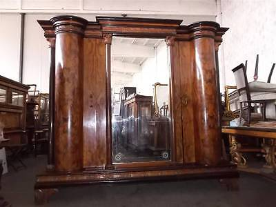 Incredible Antique Italian Designer Burled Walnut Bedroom Set Armoire - 13It088A