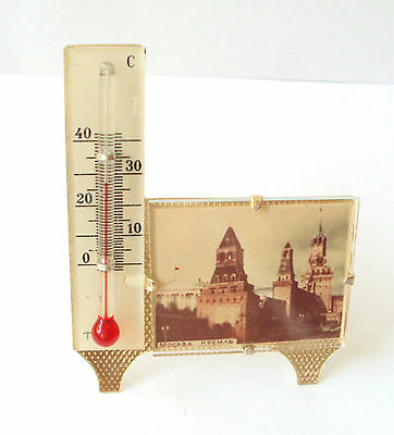 VINTAGE BEAUTIFUL RUSSIAN THERMOMETER MOSCOW-KREMLIN # 723