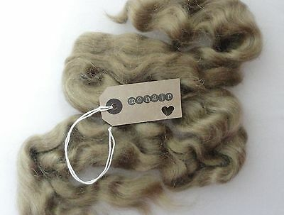 MOHAIR - 30g (approx. 1oz) MOHAIR. ASH BLONDE - waves