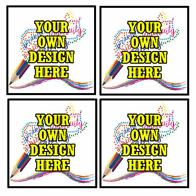 Personalised Coasters - Own Design Photo's  - Set Of 4 Coasters - Gift - New