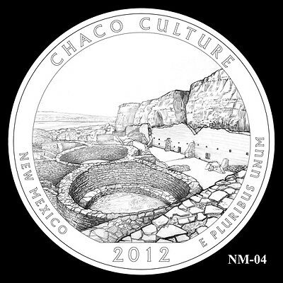 2012 P&d Chaco Culture National State Park Quarter Set Bu Mint Ms Unc No Silver