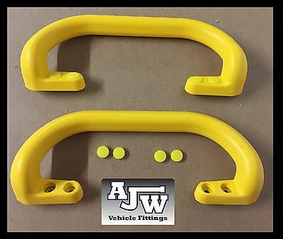 2 x Large Heavy Duty Yellow Grab Pull Handle Trailers Horsebox Taxi Bus Tractor