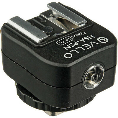 Vello Hot Shoe Adapter with PC Socket + Top Shoe - for Nikon (i-TTL)