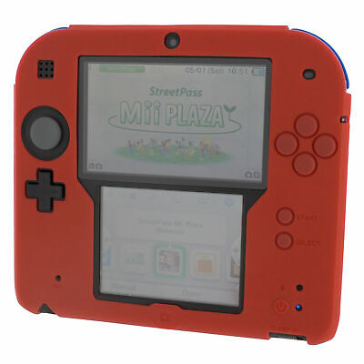 ZedLabz soft silicone gel protective cover bumper case for Nintendo 2DS - Red