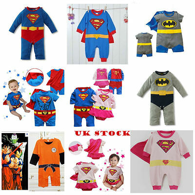 Baby Toddler Fancy Dress Party Superman Costumes Gift Playsuit Size 3-24months