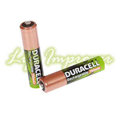 Pile Rechargeable Duracell AAA 750Mah Accu LR6 HR6 DC1500 Lot x2