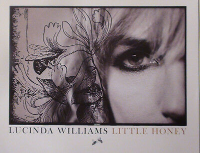 LUCINDA WILLIAMS - LITTLE HONEY PROMO POSTER LIMITED EDITION