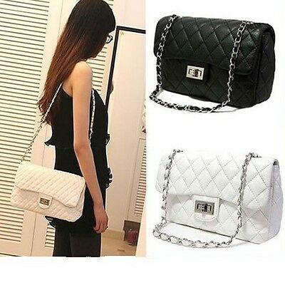 Classic Women Fashion Shoulder Bag Quilting Chain Cross Quilted Handbag Lady Hot