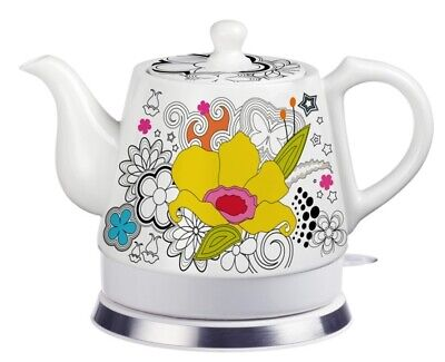 Teapot Ceramic Electric Kettle Warm Plate, Kitchen Water Boiler Gift 12039